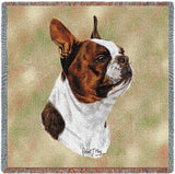 Boston Terrier Brown Small Blanket