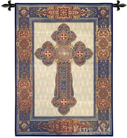 Gothic Cross Wall Tapestry