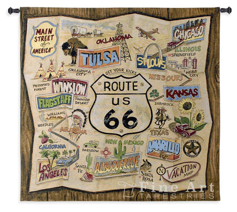 Route 66 Wall Tapestry