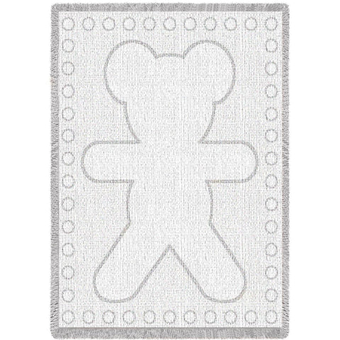 Big Teddy White Natural Small Blanket