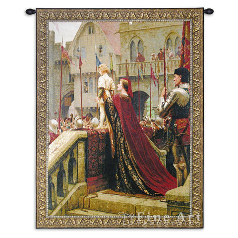 A Little Prince Likely in Time to Bless a Royal Throne Small Wall Tapestry