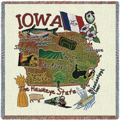 Iowa State Small Blanket