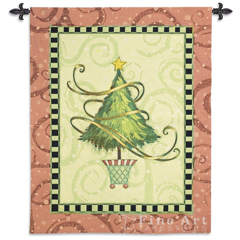 Christmas Topiary Wall Tapestry