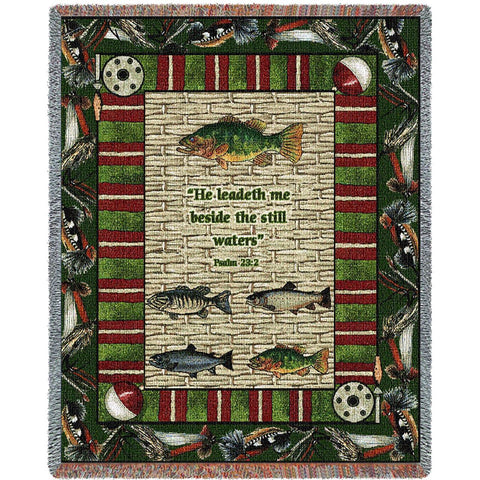 Memorial Gone Fishing Blanket