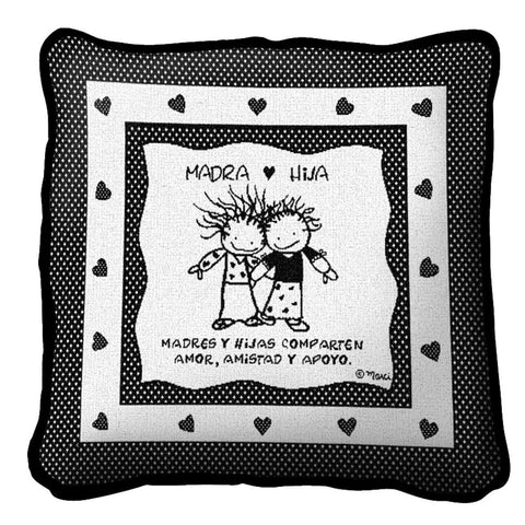 Mother Daughter Spanish Pillow