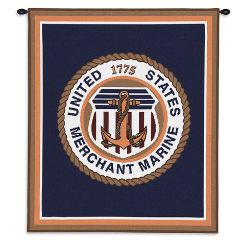 Merchant Marine Wall Tapestry With Rod