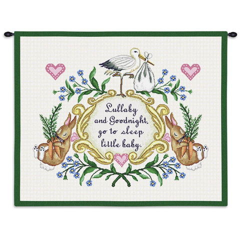 Lullabye and Goodnight Wall Tapestry With Rod