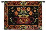 Potted Folk Floral Wall Tapestry