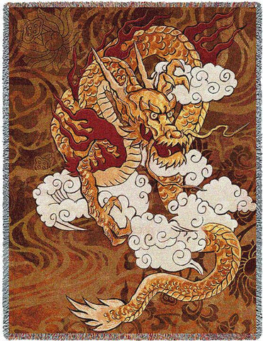 Golden Dragon Blanket