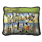Greetings From Rhode Island Pillow