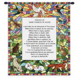 St Francis of Assisi Wall Tapestry With Rod