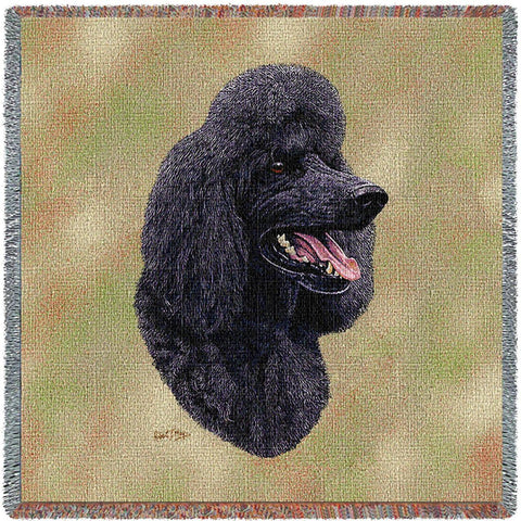 Poodle Black Small Blanket