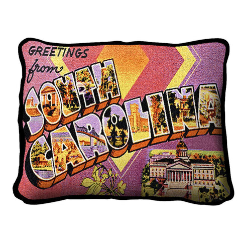 Greetings From South Carolina Pillow