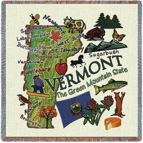 Vermont State Small Blanket