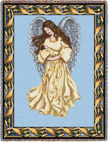Guardian Angel and Baby 1 Blanket
