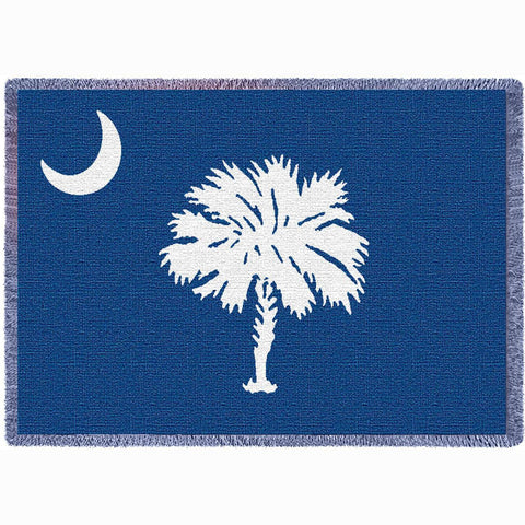 South Carolina Palmetto Moon Blue Flag Blanket