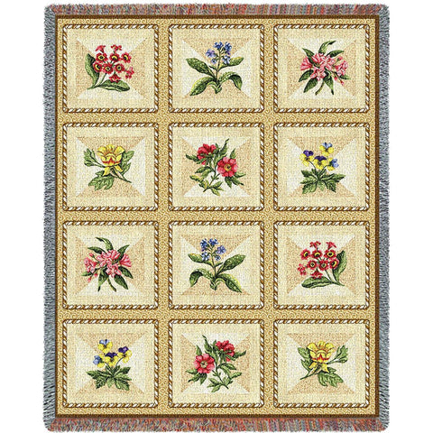 French Floral Blanket