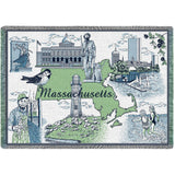 Massachusetts Afghan Blanket
