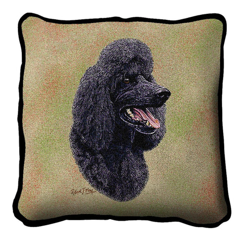 Poodle Black Pillow Cover