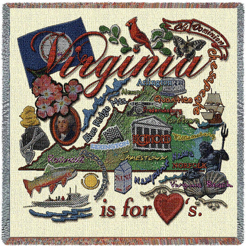 Virginia State Small Blanket