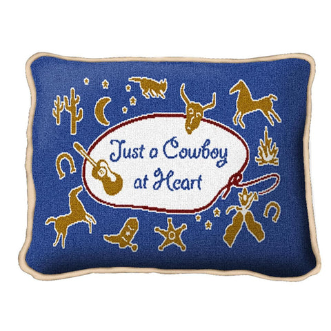 Cowboy At Heart Pillow
