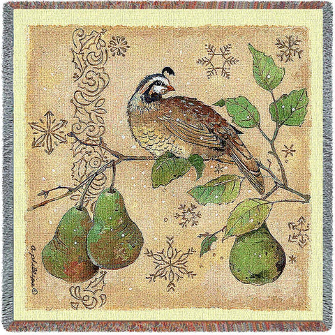 Partridge And Pears Small Blanket