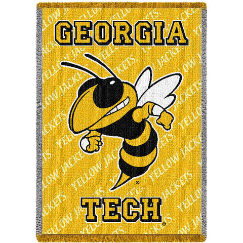 Georgia Institute of Technology Mascot Yellow Small Stadium Blanket