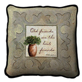 Old Friends Neutral Pillow