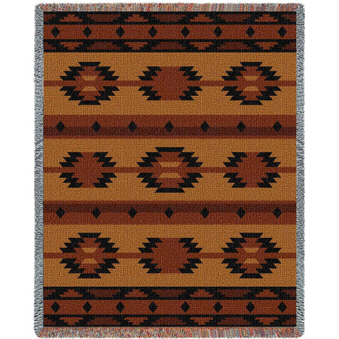 Southwest Geometric Tan Blanket