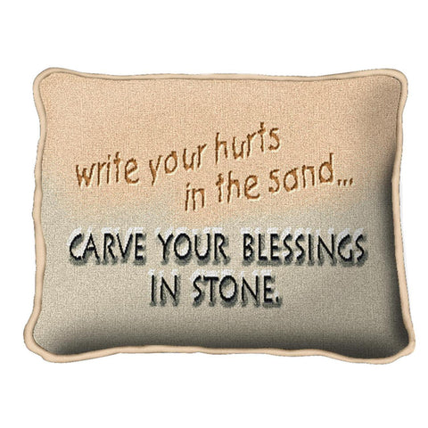 Write Your Hurts In Sand Pillow