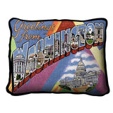 Greetings From District of Columbia Pillow