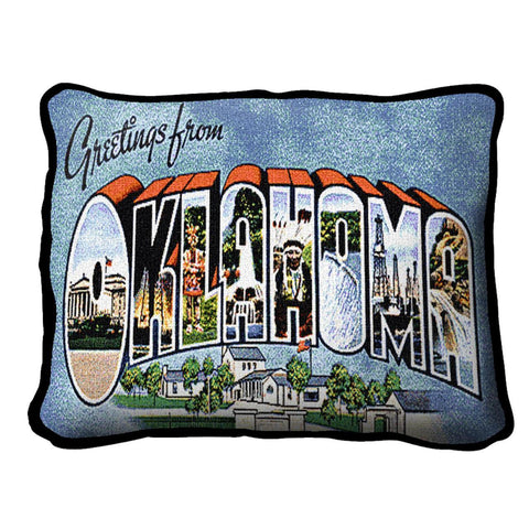 Greetings From Oklahoma Pillow