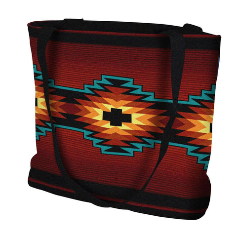 Southwest Geometric Deep Red Tote Bag