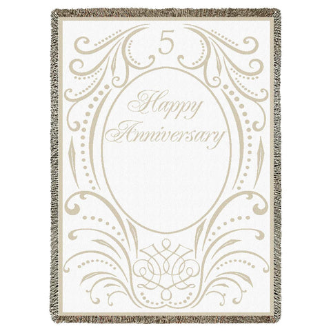 Anniversary Scroll 5 Years Blanket