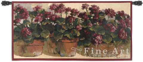 Potted Geraniums Wall Tapestry