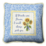 Friends With Flowers Pillow
