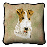 Wire Fox Terrier Pillow