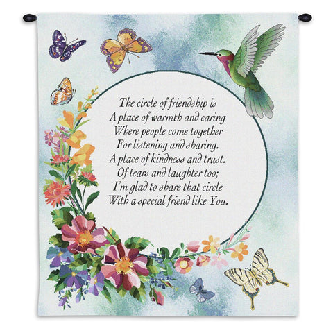 Circle of Friendship Wall Tapestry With Rod