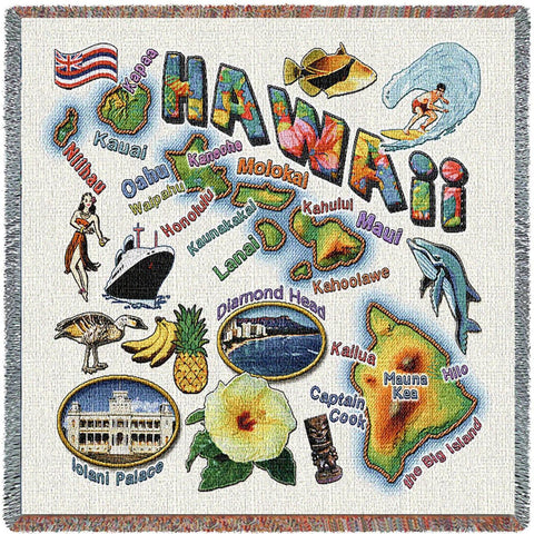 Hawaii State Small Blanket