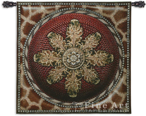 Giraffe With Rosette Wall Tapestry