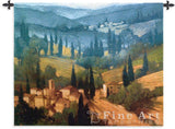 Tuscan Valley View Wall Tapestry