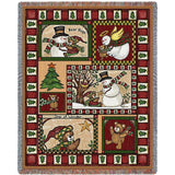 Christmas Bear Patchwork Blanket