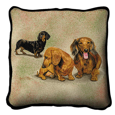 Dachschunds Puppies Pillow