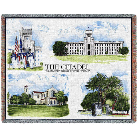 The Citadel, The Military College of South Carolina Campus Stadium Blanket