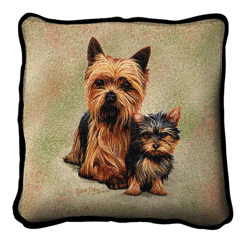 Yorkshire Terrier with Puppy Pillow