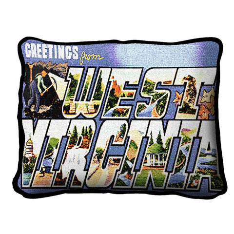 Greetings From West VA Pillow