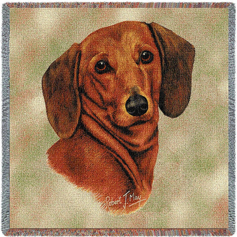 Dachshund Red Small Blanket