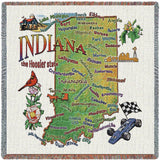 Indiana State Small Blanket