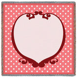 Polka Dot Geranium Small Blanket