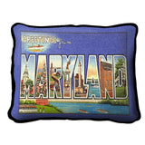 Greetings From Maryland Pillow